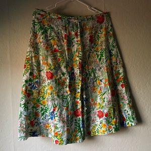 Floral handmade mid length skirt